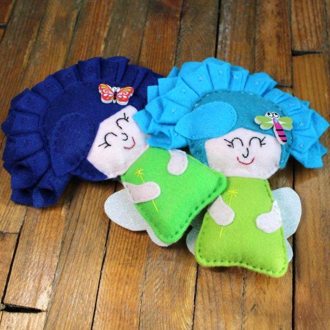 Flower Fairy with Blue Hair