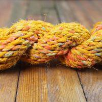 5 metres of handspun bulky weight orange saree yarn