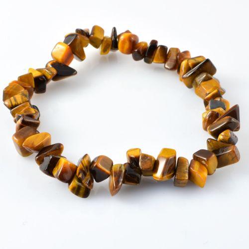 Increased Popularity Tiger's Eye semi precious gem stone bracelet charmed by Caroline Millar (the Derbyshirewitch)