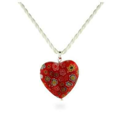 Find my soul mate murano glass loveheart charmed amulet