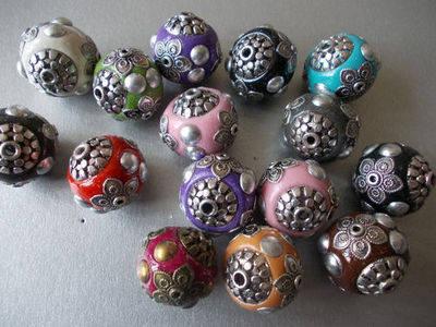 Handmade Indonesian ball lucky charm