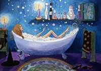Bubble bath magic - art print