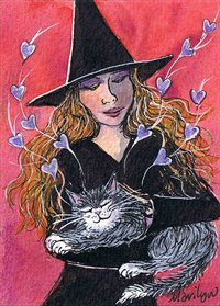 Cats purr massages the heart - art print