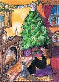Christmas night - art print