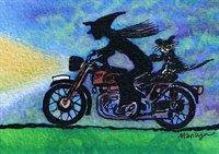 Motorbike ride - art print