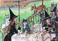 Witch boating party - inspired by Renoir - Art print