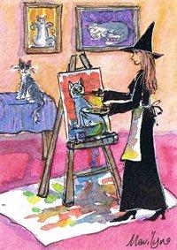 Witch the portrait painter - Art print