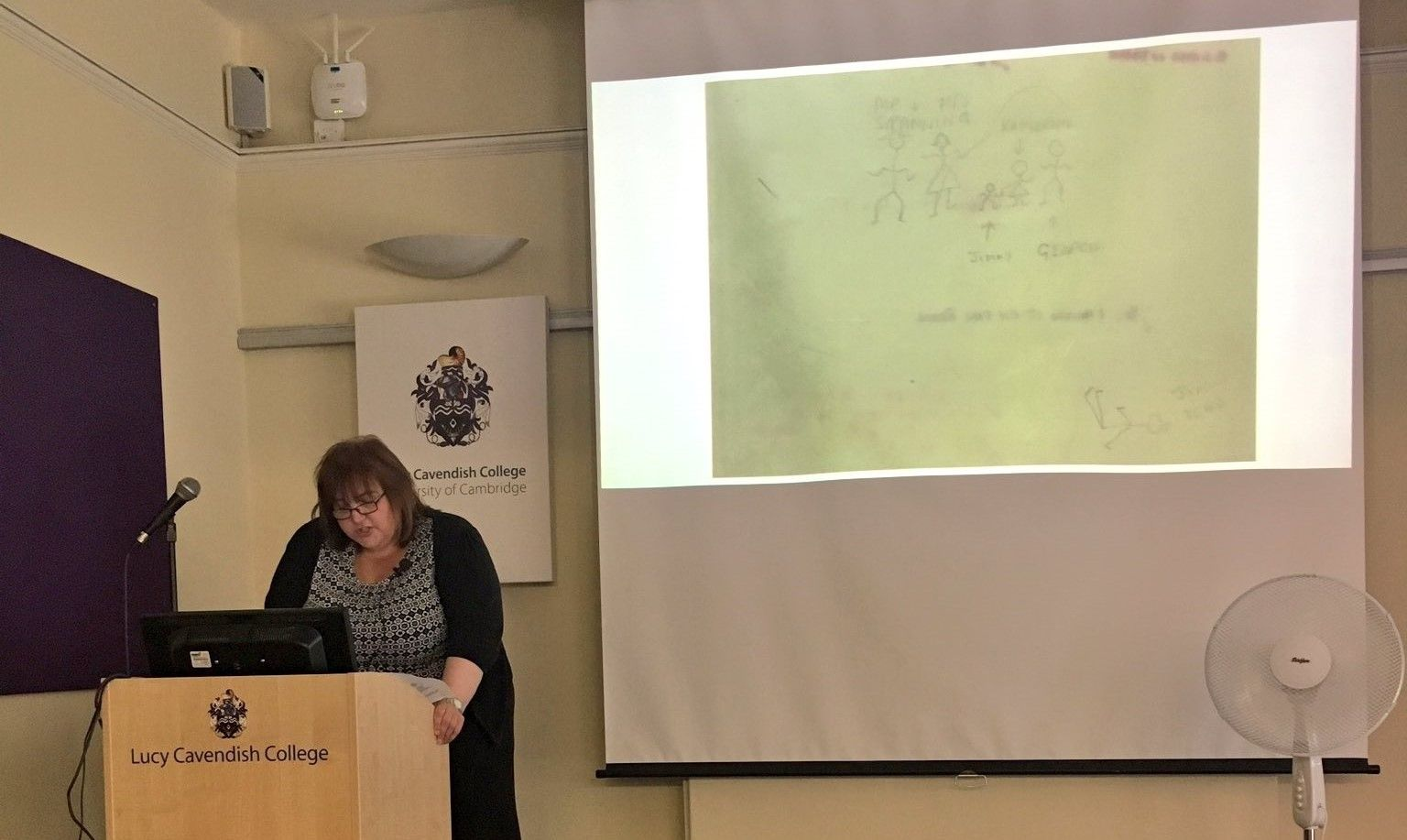 Tina presenting a paper at the Agatha Christie Conference