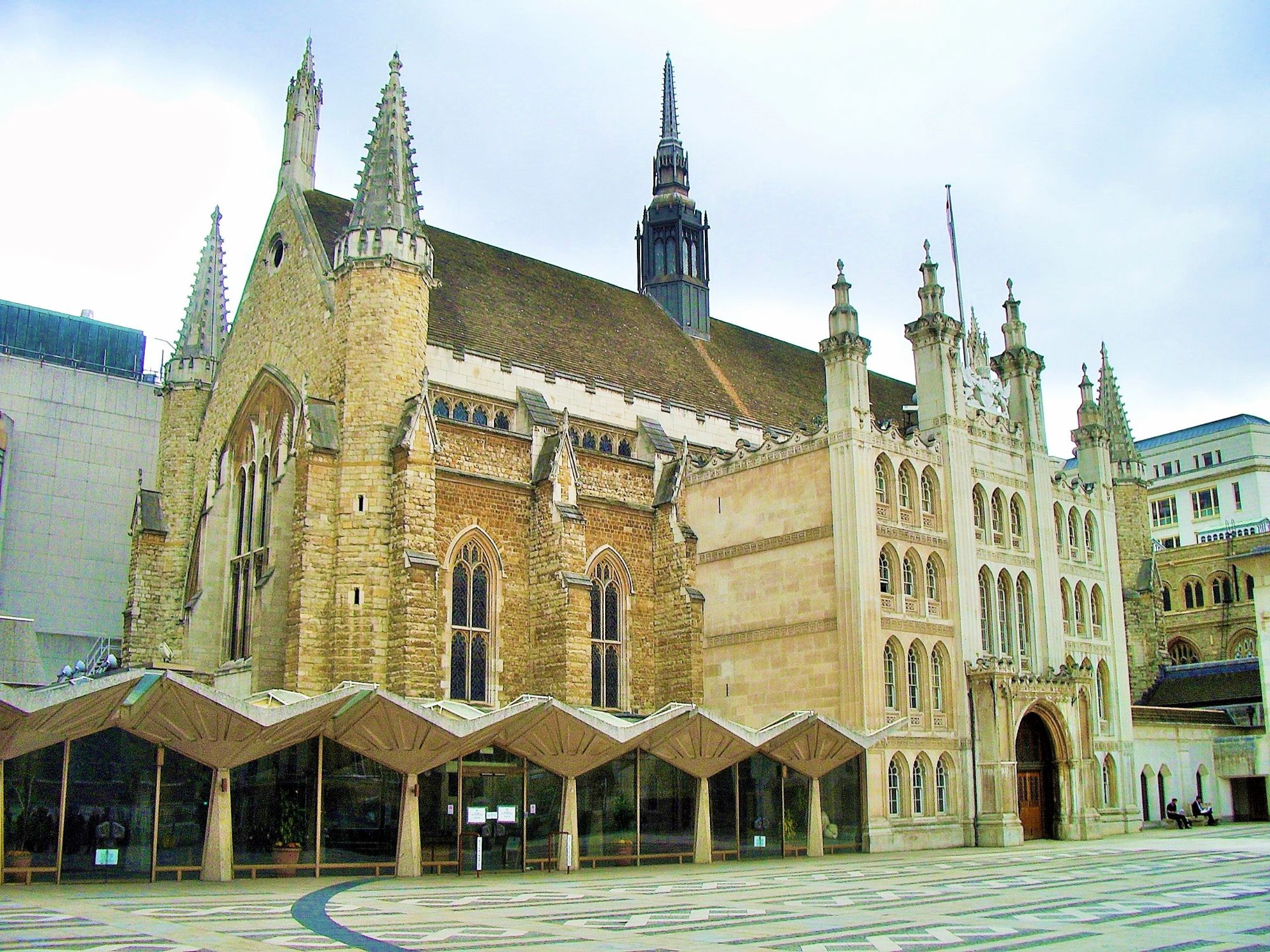 Photo of the historic Guildhall.
