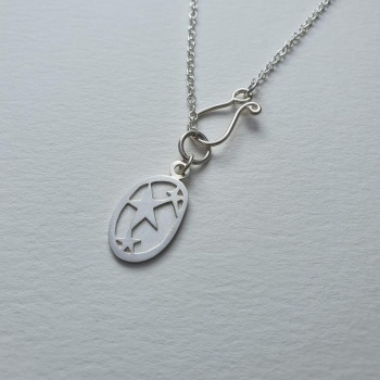 Handmade silver Star charm necklace