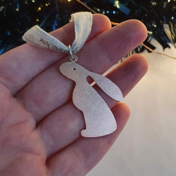 Copper Moon Gazing Hare Christmas Decoration