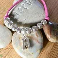 Silver Letter 'Sunshine' Bracelet