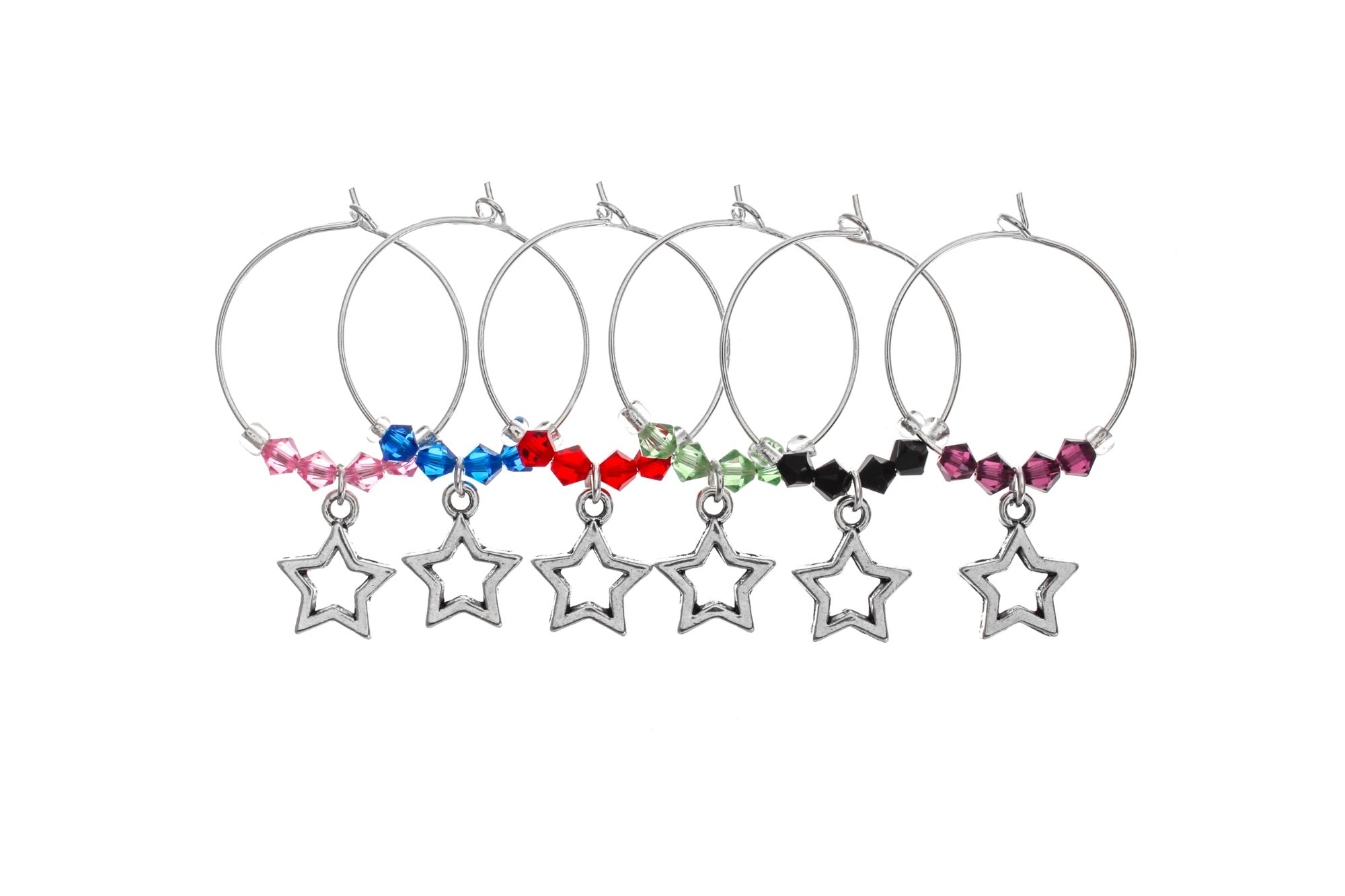 Star Struck Wine Glass Charms - Click to Buy!