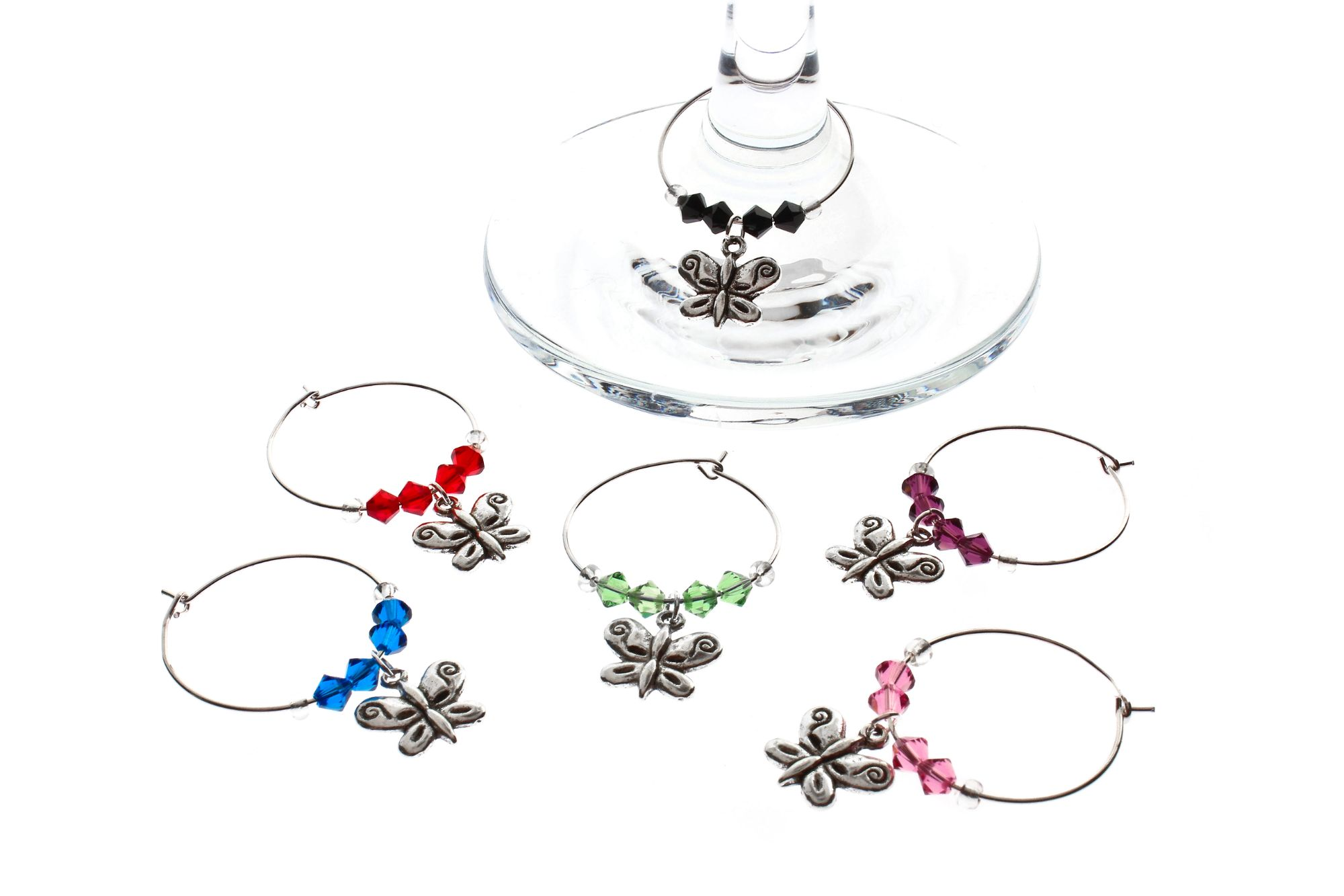 Butterfly Wine Glass Charms - Click to Buy!