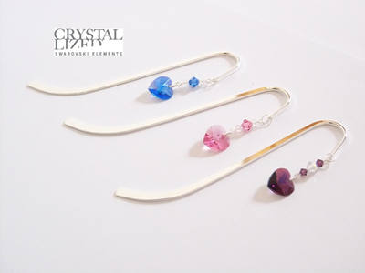 Swarovski Heart Bookmark