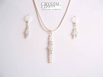 Nichola - Clear Swarovski Crystal Icicle Earrings