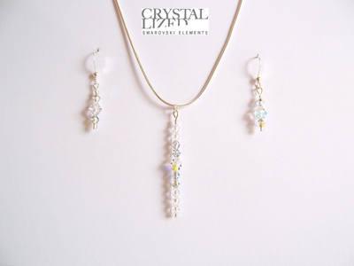 Nichola - Clear Swarovski Crystal Icicle Earrings