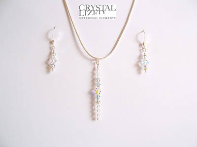 Nichola - Clear Swarovski Crystal Icicle Necklace