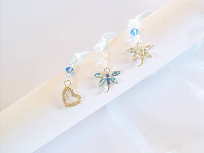 Something Blue Rhinestone Keepsake Charms