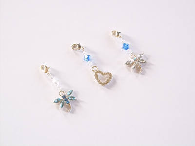 Something Blue Rhinestone Garter Charms