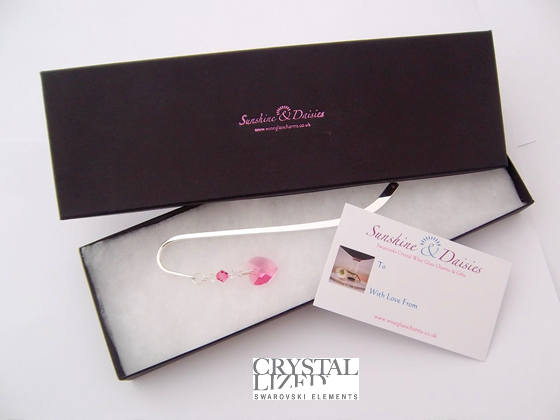 Rose Heart Bookmark in Gift Box