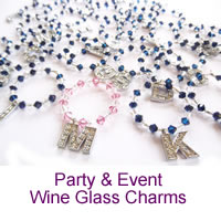 Party and Event Wine Glass Charms