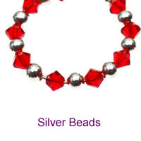 Luxury Charms with Silver Beads