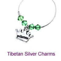 Demi Charms with Tibetan Silver Charms