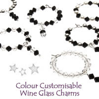 Christmas Colour Customisable Wine Glass Charms