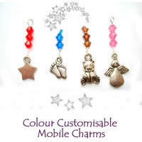 Christmas Colour Customisable Mobile Charms