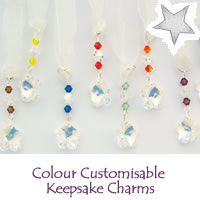 Christmas Colour Customisable Keepsake Charms