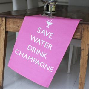 Champagne Tea Towel £9.95
