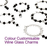 Colour Customisable Wine Glass Charms