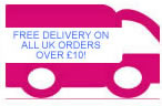 Free Delivery on all UK orders over £10!