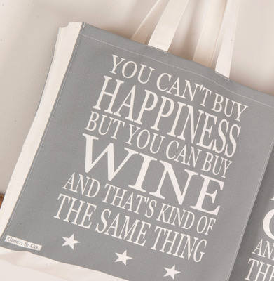 You Cant Buy Happiness But You Can Buy Wine Shopper Bag