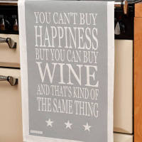 You Cant Buy Happiness But You Can Buy Wine Tea Towel