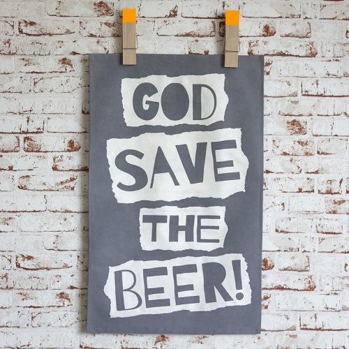 God Save The Beer Tea Towel
