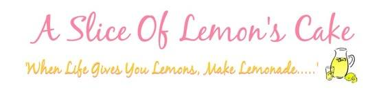 A Slice of Lemon's Cake Blog
