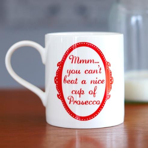 Red Prosecco Mug