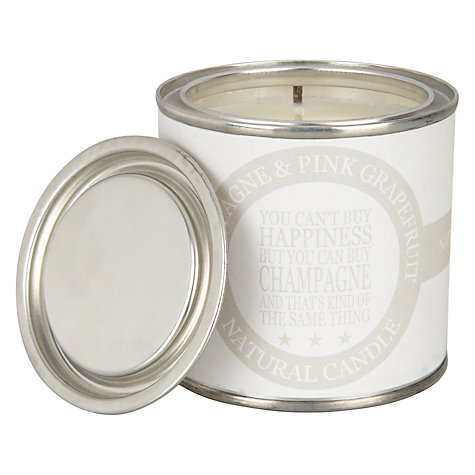 Champagne Candle Tin