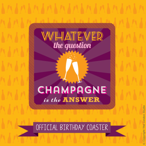 Champagne Is The Answer Card