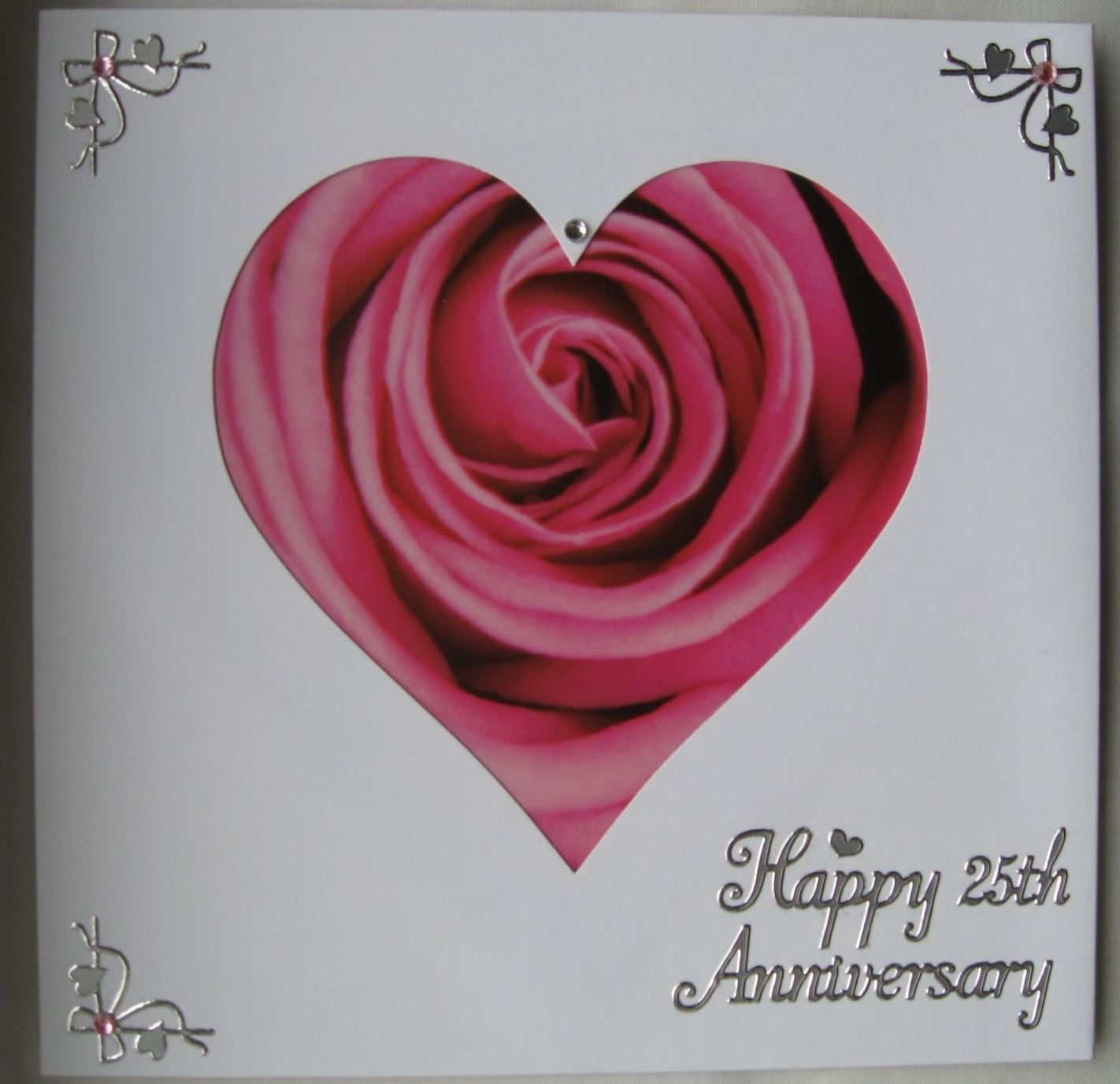 Pink heart anniversary