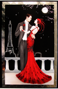 Art Deco Lady in Red couple