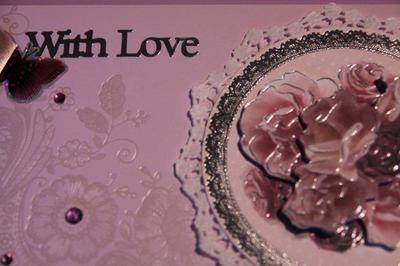 With Love pink doily