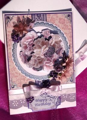 Large Happy Birthday lace/flower including box