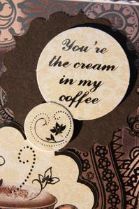 Cream in my coffee detail