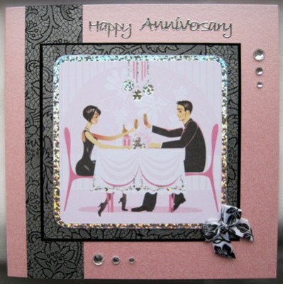 To the Happy Couple handmade anniversary card