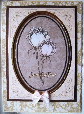Sepia framed roses