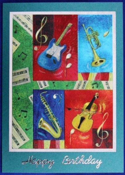 Instruments handmade card