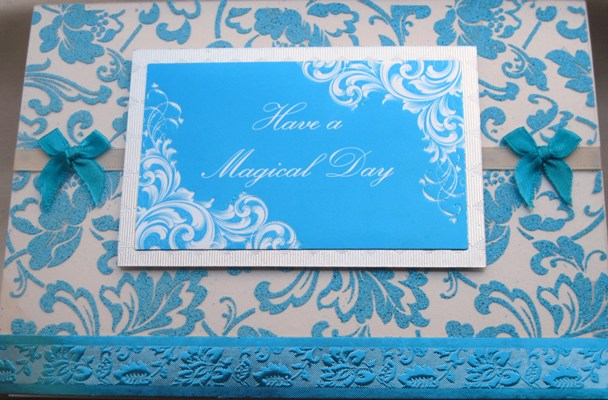 magical day handmade card turq product